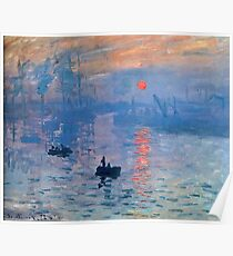 CLAUDE MONET, Impression, Sunrise. Poster