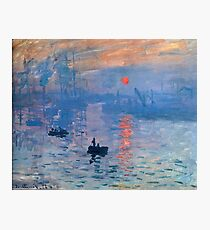CLAUDE MONET, Impression, sunrise, Photographic Print