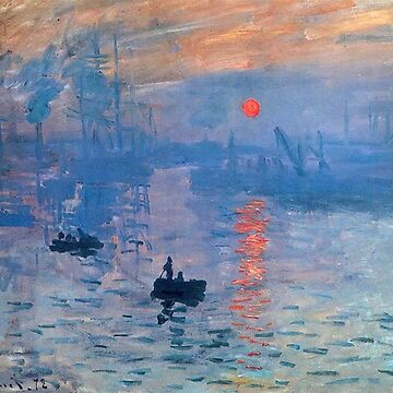 CLAUDE MONET, Impression, sunrise, by TOMSREDBUBBLE