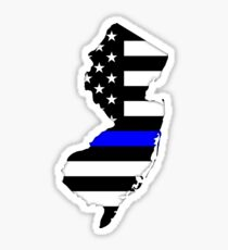 New Jersey — Thin Blue Line Sticker