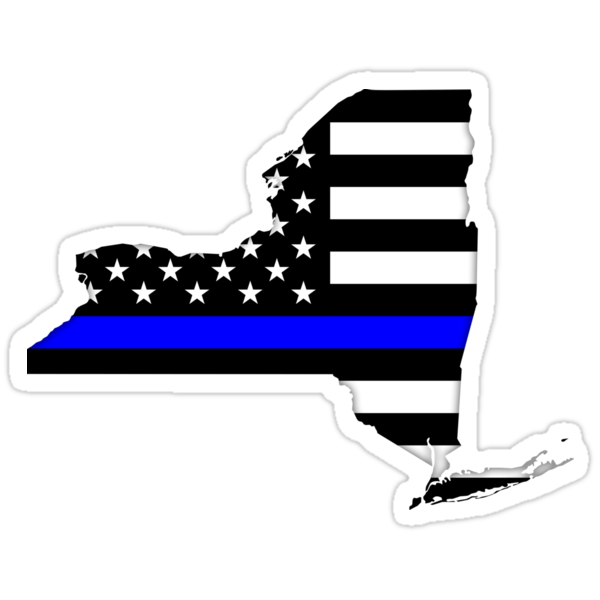 Quot New York Thin Blue Line Quot Stickers By Thin Line Redbubble