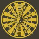 Mandala 36 Yin-Yang Yellow Fever by sekodesigns