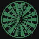 Mandala 36 Yin-Yang Green With Envy by sekodesigns