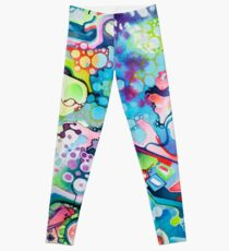 Parts of Reality Were Missing, But Which Parts? - Watercolor Painting Leggings