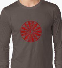 Mandala 36 Yin-Yang Colour Me Red Long Sleeve T-Shirt