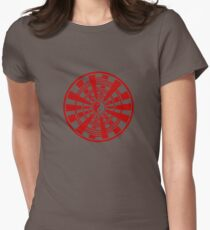 Mandala 36 Yin-Yang Colour Me Red Women's Fitted T-Shirt