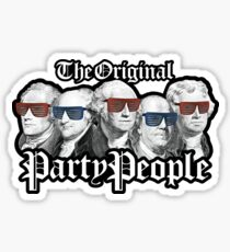 Party People July 4th American History Sticker