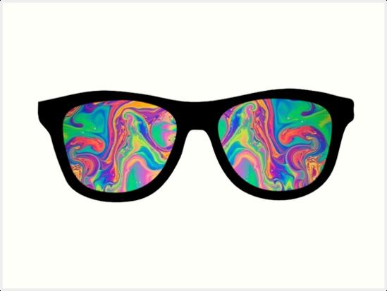 """trippy rainbow sunglasses"" Art Prints by katrinawaffles ..."