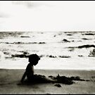 Beach Silhouette by Wayne King