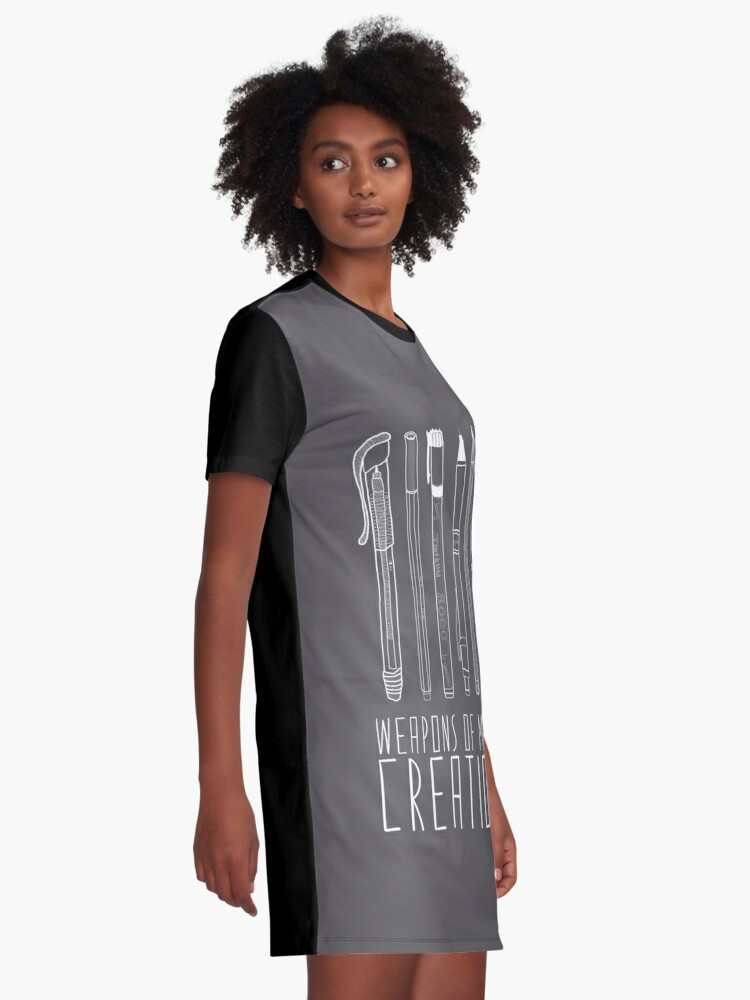 Alternate view of Weapons Of Mass Creation (on grey) Graphic T-Shirt Dress