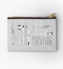 Weapons Of Mass Creation (on grey) Studio Pouch