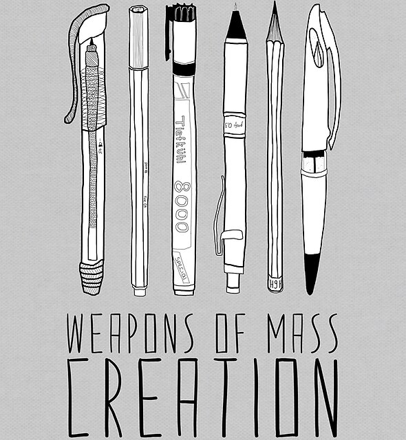 Weapons Of Mass Creation (on grey) by Bianca Green
