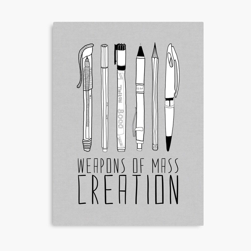 Weapons Of Mass Creation (on grey) Canvas Print