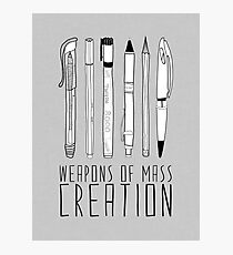 Weapons Of Mass Creation (on grey) Photographic Print
