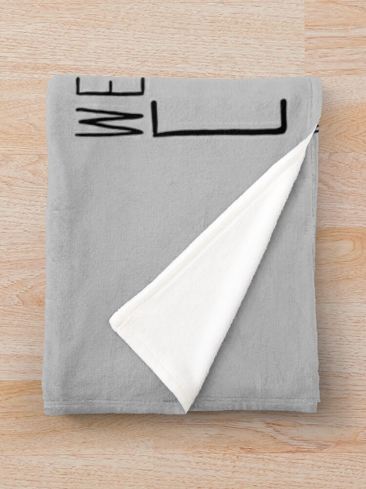 Alternate view of Weapons Of Mass Creation (on grey) Throw Blanket