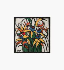 "Margaret Preston Australian Woodcut ""Christmas Bulbs"" Art Board"