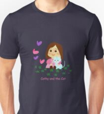 Cathy and the Cat with Butterflies T-Shirt