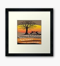 Learn From Yesterday Framed Print