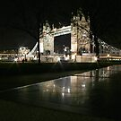 Tower Bridge, View from a Stone Seat by Sarah Matthews