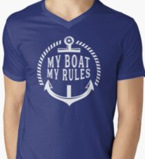 My Boat, My Rules Funny Sailboat or Yacht T-Shirt