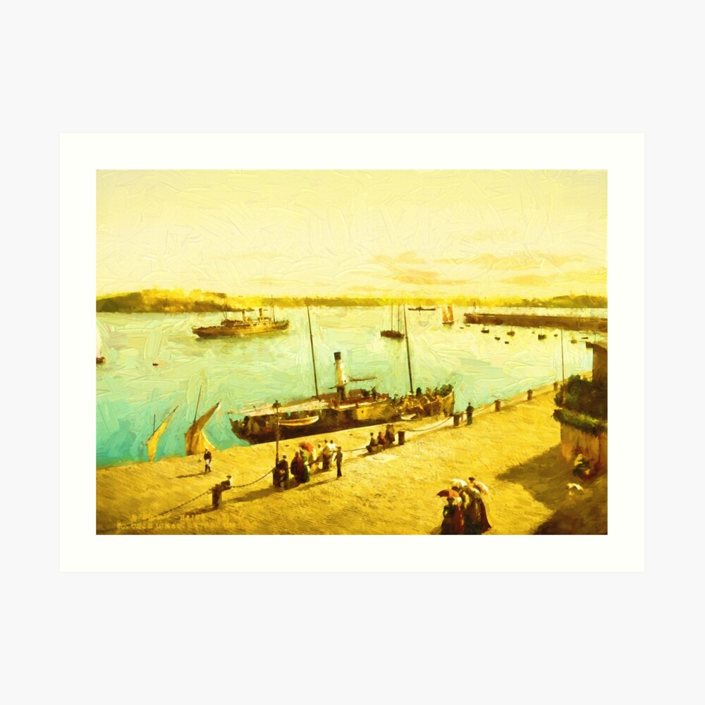 Harbour Parasols Art Print