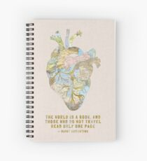 A Traveler's Heart + Quote Spiral Notebook