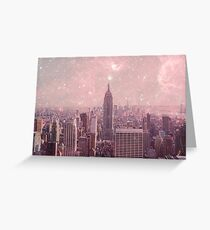Stardust Covering New York Greeting Card