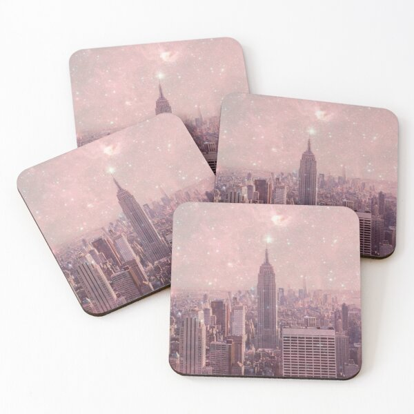 Stardust Covering New York Coasters (Set of 4)