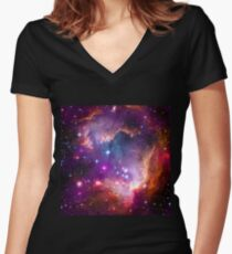 The Wing of the Small Magellanic Cloud  Women's Fitted V-Neck T-Shirt