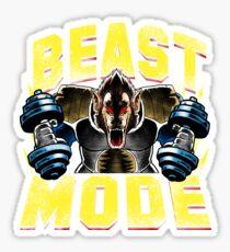 Beast Mode Great Super Saiyan Gym Workout Training with Dragon Gorilla form Big Ape Sticker