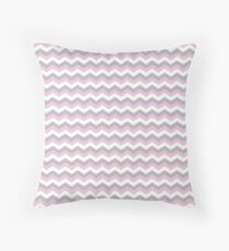 White, Pink and Grey Chevron Zigzag Pattern Throw Pillow