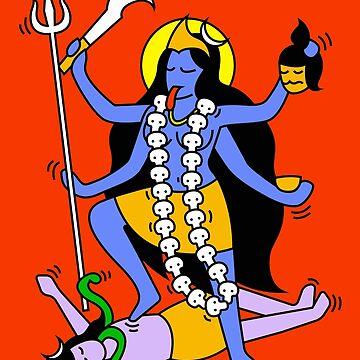 Kali Indian Style by tshirtbaba