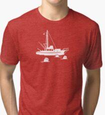Jaws - Orca with Barrels Tri-blend T-Shirt