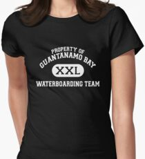 Guantanamo Bay Waterboarding Team White Women's Fitted T-Shirt
