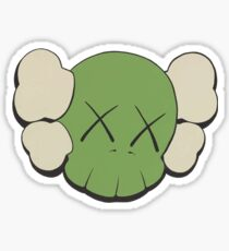 KAWS Companion Head Logo Green Black Sticker Sticker