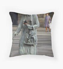 Anonymous Pedestrians Throw Pillow