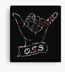 OSS Hand ( BJJ / Brazilian Jiu Jitsu ) Canvas Print