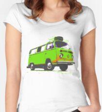 Kombi camper Women's Fitted Scoop T-Shirt