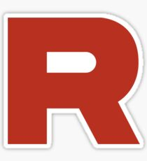 Team Rocket R Black Sticker