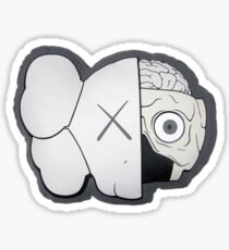 KAWS Companion Brain Logo sticker  Sticker