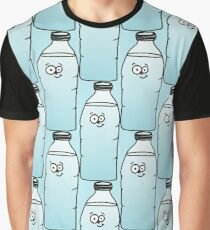 Cute Googly-Eyed Water Bottle Graphic T-Shirt