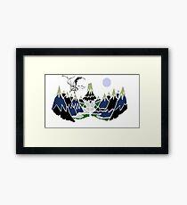 """"""" SMAUG """" Mountain  Framed Print"""