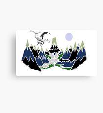 """ SMAUG "" Mountain  Canvas Print"
