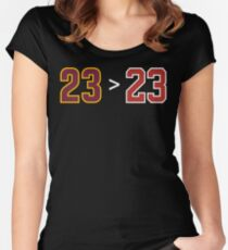 James over Jordan - 23 > 23 Women's Fitted Scoop T-Shirt