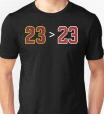 James over Jordan - 23 > 23 T-Shirt