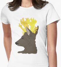 Yellow Stagshorn Womens Fitted T-Shirt