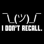 I Don't Recall by fishbiscuit