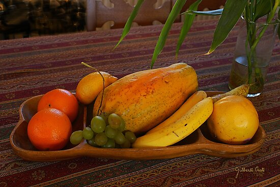 Fruit Still Life by Gilberte