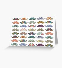 Mustache Mania Greeting Card