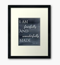 Psalm 139:14 Watercolor Framed Print